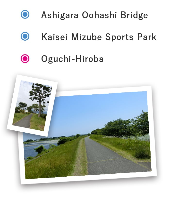 Sakawagawa river cycling course